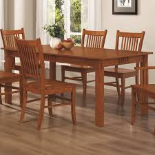coaster 100621 mission style dining table burnished oak solid