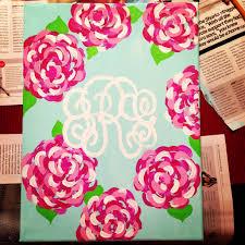 lilly pulitzer canvas with monogram diy pinterest monograms