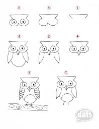 easy drawing of an owl owl easy owl drawing how to draw an owl
