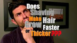 does shaving make hair grow back thicker faster or more coarse