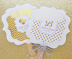 personalized wedding fans personalized metallic foil paddle fans wedding