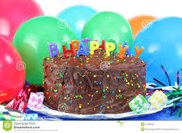 happy birthday cake and balloons stock images image 14278394
