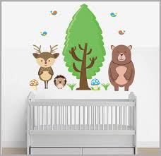 forest nursery decals woodland creatures nature wall stickers