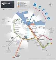 unofficial map amsterdam metro and railway transit maps