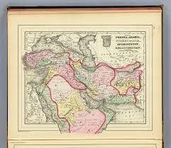 Persia Map Persia Arabia Turkey Afghanistan Beloochistan David Rumsey