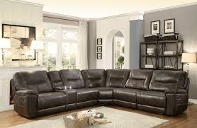 Faux Leather Recliner Homelegance Columbus Reclining Sectional Sofa Set D Breathable