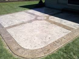pleasant pendant for decorative concrete patio inspiration outdoor