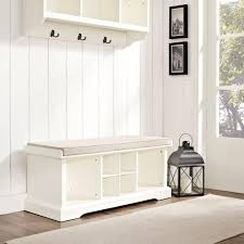 White Entry Table by Furniture White Storage Bench Entryway Bench With Storage