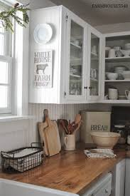 Decorating Ideas For Top Of Kitchen Cabinets by 7 Ideas For A Farmhouse Inspired Kitchen On A Budget
