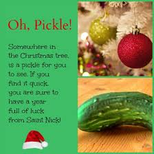 christmas pickle pickle ornament