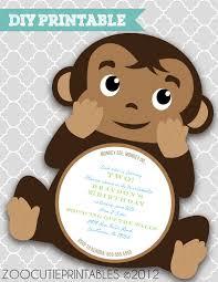 baby shower monkey 7 printable monkey baby shower invitations bestpickr