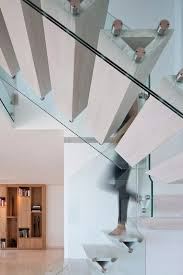 Solid Banister Triangular Steps Staircase Contemporary With Solid Banister Slip
