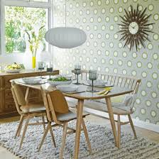 Retro Dining Table And Chairs Dining Room Wallpaper Ideas Retro Dining Rooms Grey Yellow And