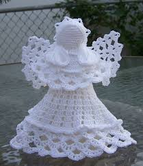 crocheted angel white 18 00 via etsy christmas and other