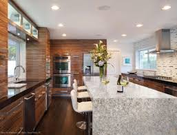 kitchen berwyn waterfall countertops legend interiors shaded oak