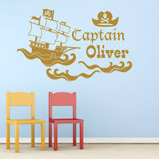 pirate ship wall art shenra com personalised pirate ship vinyl wall art sticker mural decal any na