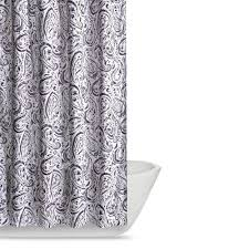 Gray Paisley Shower Curtain by Truly Soft Watercolor Paisley 72 In Eggplant Shower Curtain