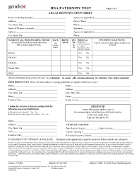 fake paternity test document fill online printable fillable