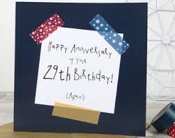 29th birthday card etsy