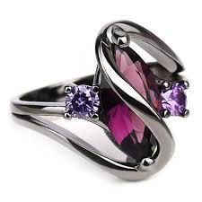black gold rings images Trendy pink engagement wedding rings for women horse eye cz black jpg