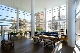 interior gorgeous high ceiling lighting in living room with