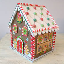 wooden gingerbread house advent calendar by little ella james