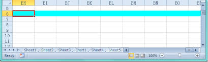 how to highlight entire whole row while scrolling in excel