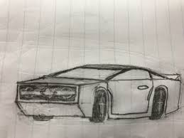 lamborghini huracan sketch quick muscle car sketch