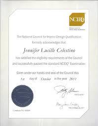 certificate of interior design bjhryz com