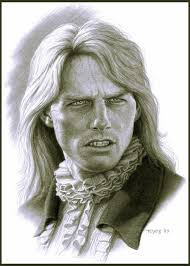 tom cruise as lestat in interview with the vampire concept art by