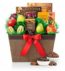 miami gifts delivered by gifttree fresh fruit and godiva chocolates fruit gift basket