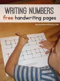 number writing practice sheet free printable from flandersfamily