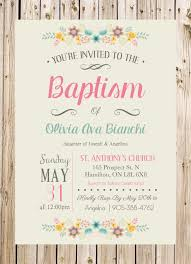 Sample Of Invitation Card For Christening Baptism Invitation Christening Church Ceremony Party Rustic