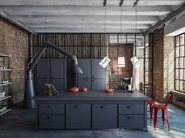 Dark Grey Cabinets Kitchen Cabinets U0026 Drawer Industrial Style Kitchen For Foodies Dark Gray