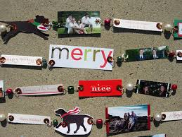 Old Christmas Cards Crafts - recycled christmas cards friends and family tree garland in my