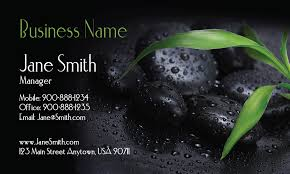 Massage Business Cards Examples Stones Massage And Spa Business Card Design 601031