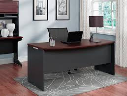 Executive Desk Accessories by Amazon Com Altra Pursuit Executive Desk Cherry Gray Kitchen