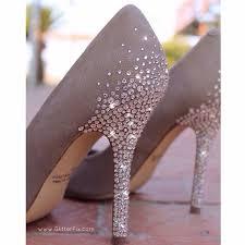 wedding shoes jeweled heels customized heels w swarovski rhinestones glitterfix 3 crafty