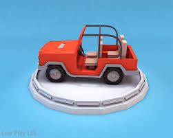 jeep cartoon offroad cartoon car jeep 3d model cgtrader