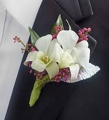 white dendrobium orchid boutonniere 1800flowers com 146538