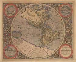 Map Of Western Hemisphere Antique Map Of The Western Hemisphere By Mercator Hjbmaps Com