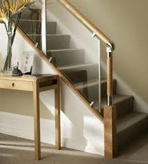 stair railings and banisters contemporary railing alternative with acrylic panels by fusion