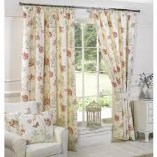 Home Interior Bird Cage Vintage Floral Birdcage Print Curtains Home