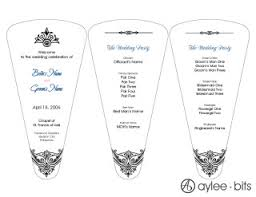 blank wedding program templates diy fan programs aylee bits