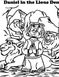 daniel and the lions den coloring page and the lions den coloring