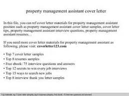 sample assistant property manager cover letter resume samples