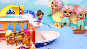 toys for kids lol surprise dolls the mermaids try to sink the