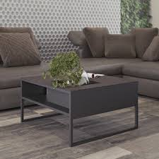 Manhattan Rectangle Adjustable Height Dining And Coffee Table Sigma Coffee Table Oxide Ceramic Black Tema Home Modern