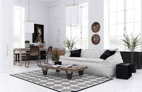 collection black and white modern living room furniture photos