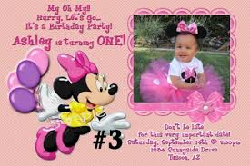 personalized minnie mouse birthday invitations minnie mouse